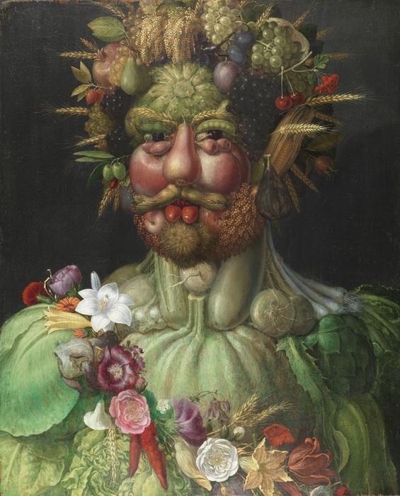 Дж. Арчимбольдо. Портрет императора Рудольфа II в образе Вертумна
